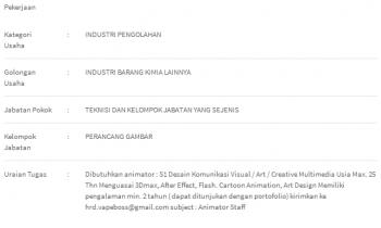 Lowongan S1 Design Komunikasi Visual/Art/Creative